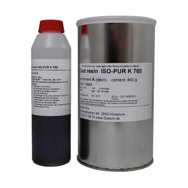 Fantastisk Iso-Elektra ISO-PUR K 760 varmeledende indstøbning, Sort EJ34